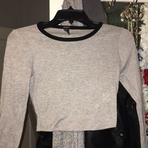 Gray crop top from forever 21